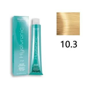 10,3 (К) Крем-краска Hyaluronic acid платиновый блондин золотистый 100 мл.