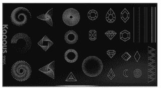 2355 (К) Geometry 4, пластина для стемпинга «Crazy story»